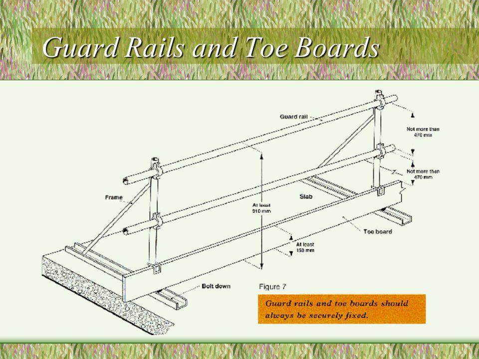 Guard Rails and Toe Boards