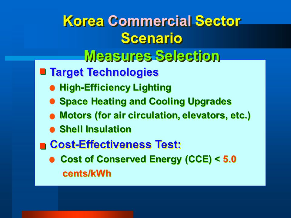 Korea Commercial Sector Scenario Measures Selection