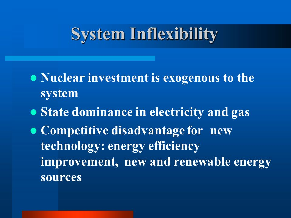 System Inflexibility Nuclear investment is exogenous to the system