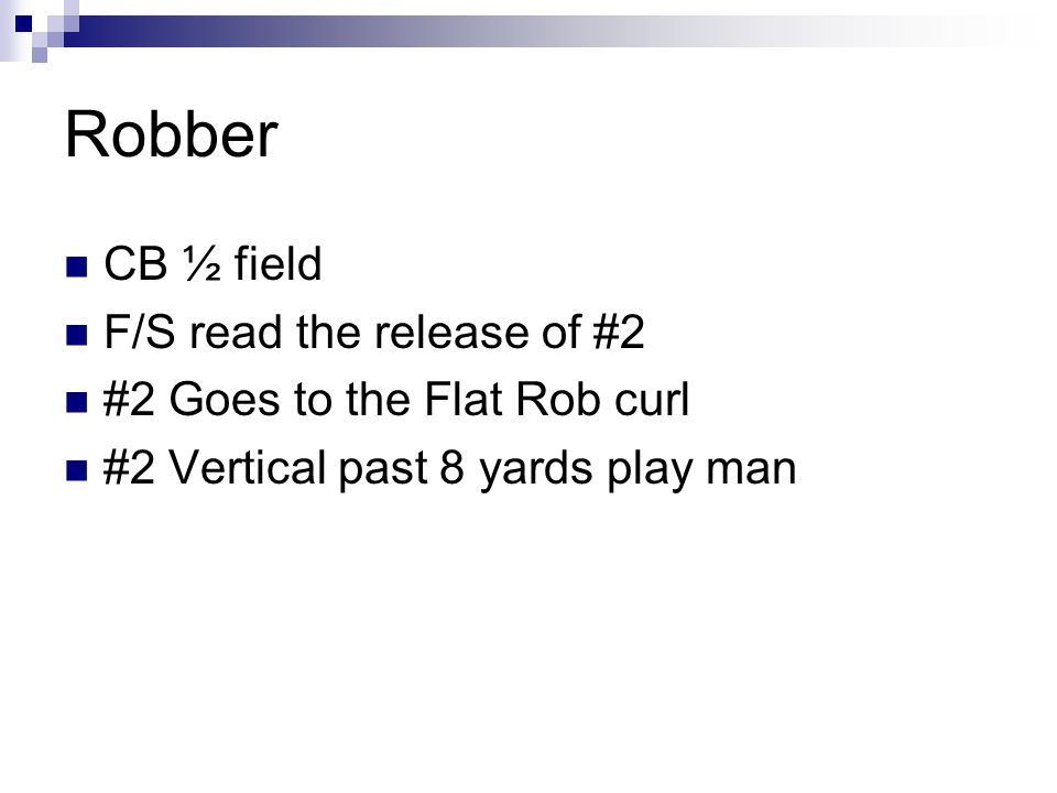 Robber CB ½ field F/S read the release of #2