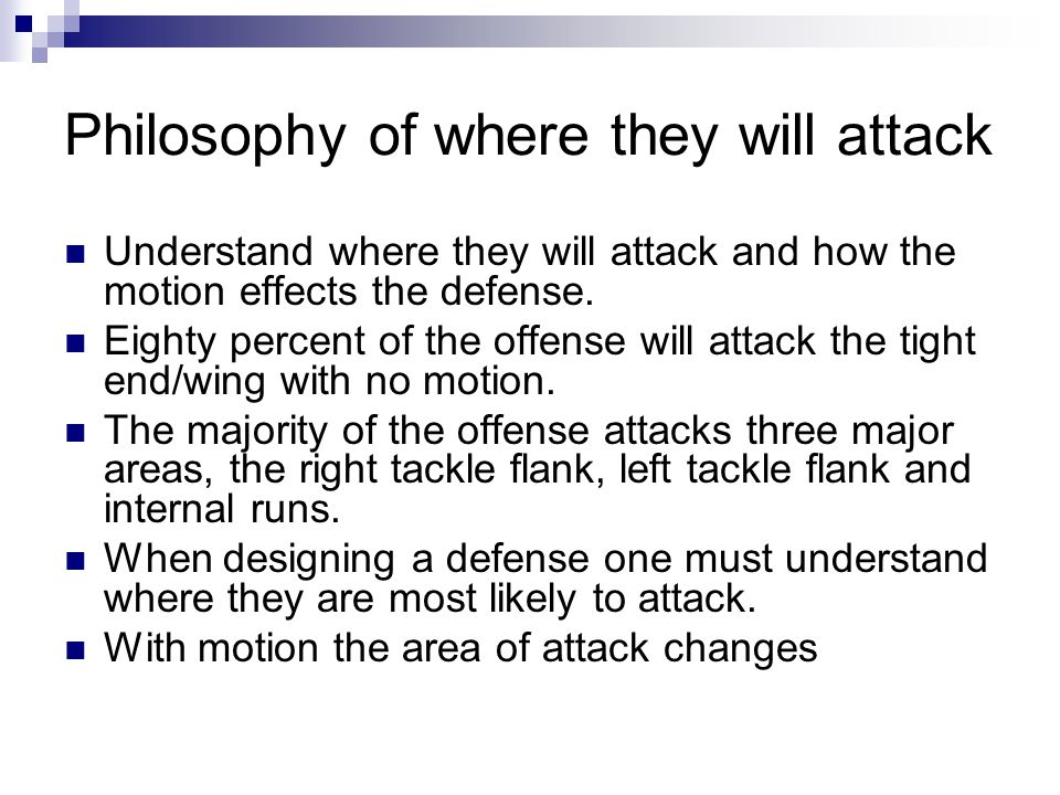 Philosophy of where they will attack