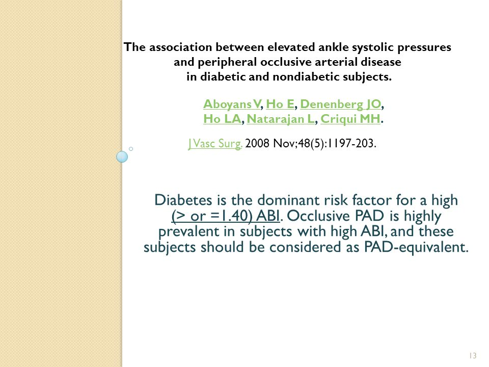 Diabetes is the dominant risk factor for a high