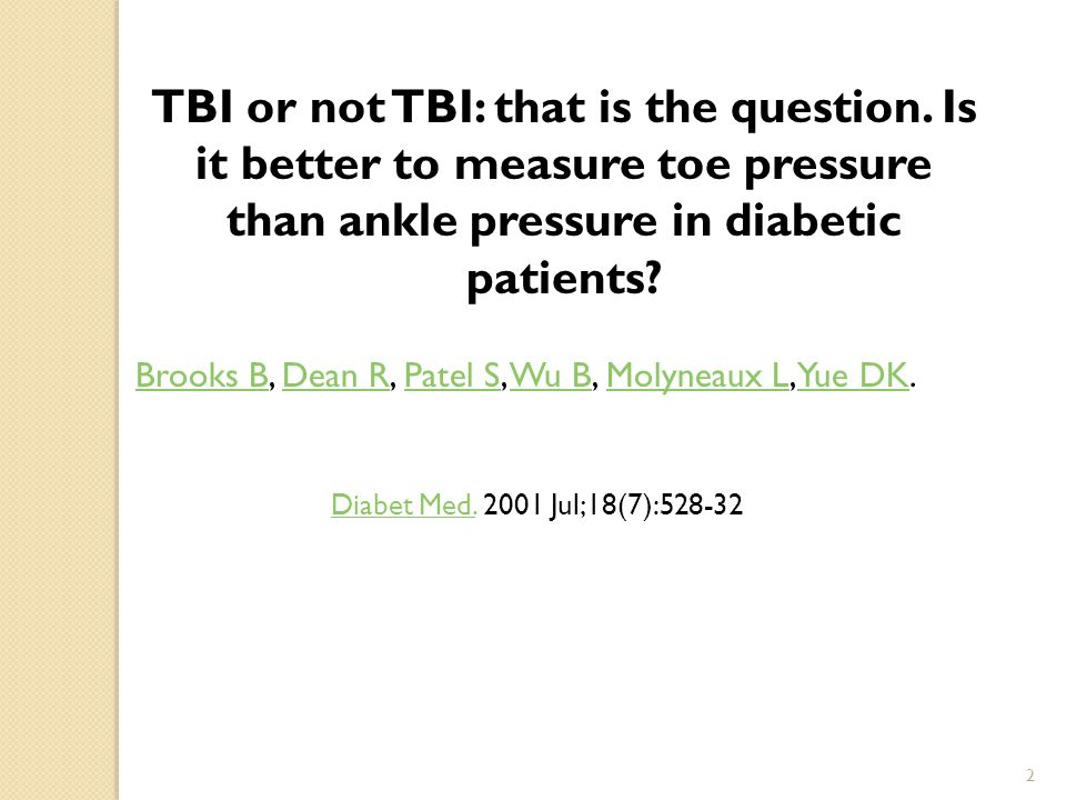 TBI or not TBI: that is the question