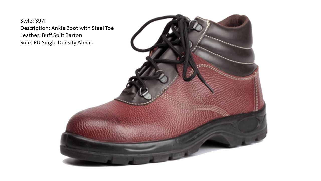 Style: 397l Description: Ankle Boot with Steel Toe.