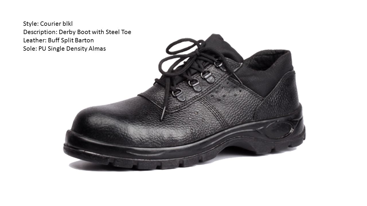 Style: Courier blkl Description: Derby Boot with Steel Toe.