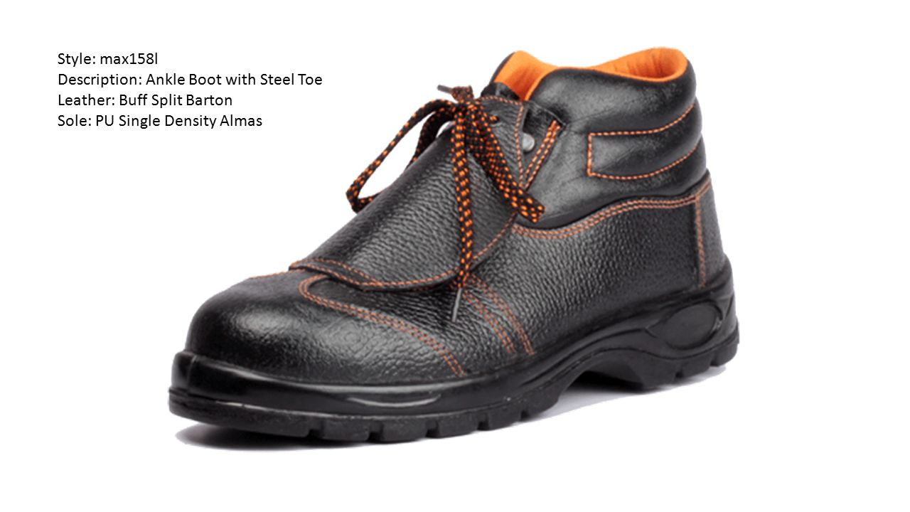 Style: max158l Description: Ankle Boot with Steel Toe.