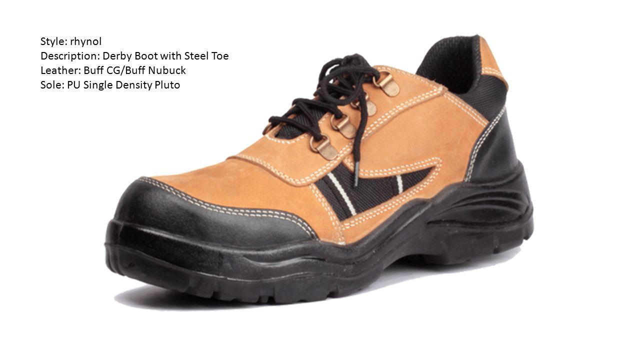 Style: rhynol Description: Derby Boot with Steel Toe.