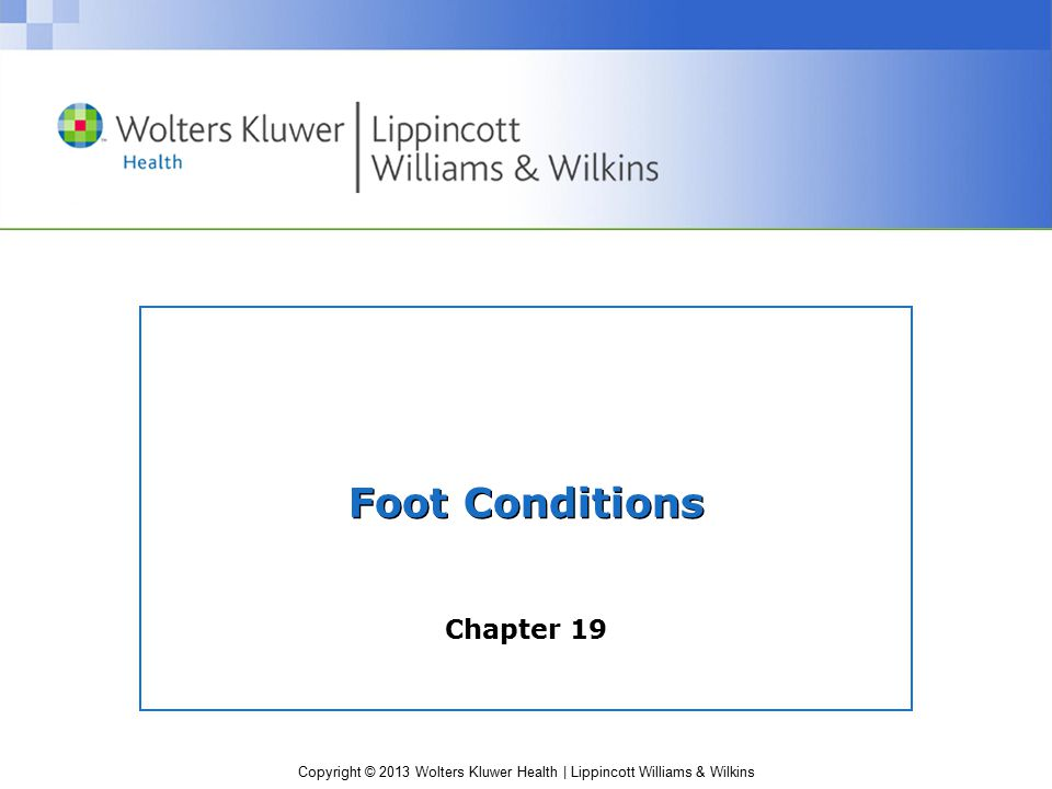 Foot Conditions Chapter 19