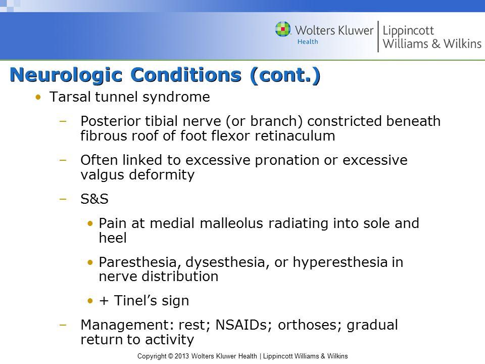 Neurologic Conditions (cont.)