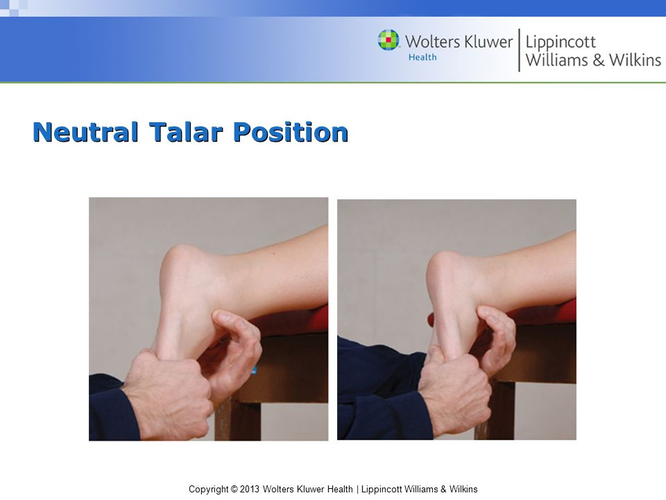 Neutral Talar Position