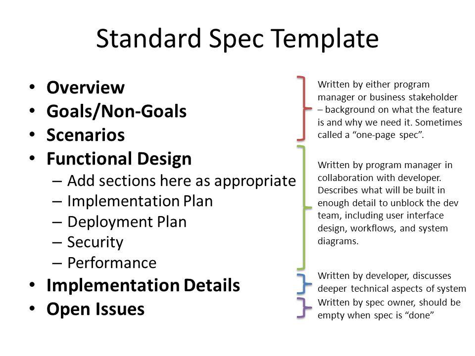 Standard Spec Template