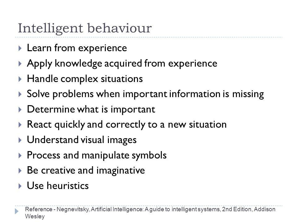 Intelligent behaviour