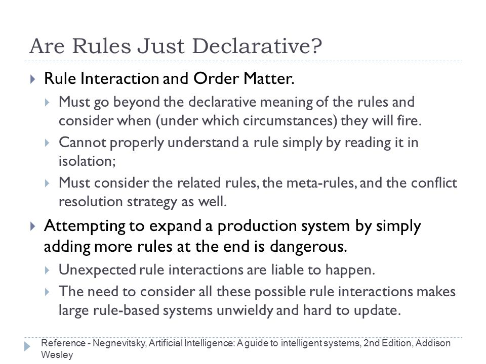 Are Rules Just Declarative