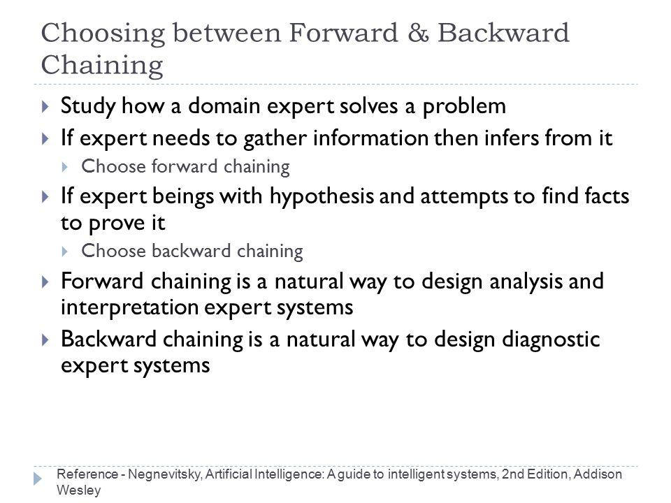 Choosing between Forward & Backward Chaining