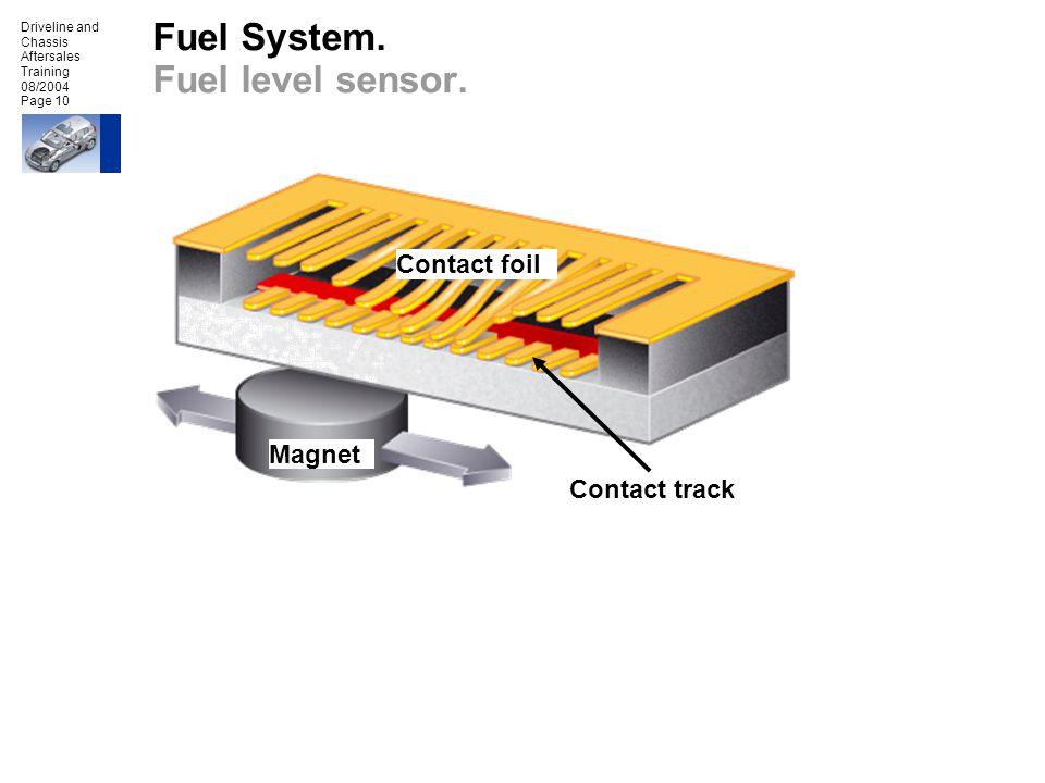 Fuel System. Fuel level sensor.