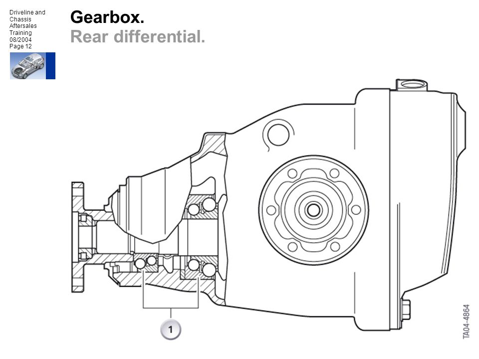 Gearbox. Rear differential.