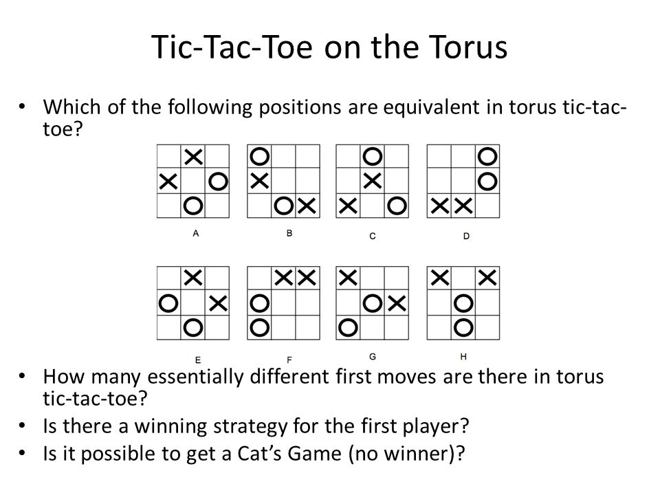 Tic-Tac-Toe on the Torus