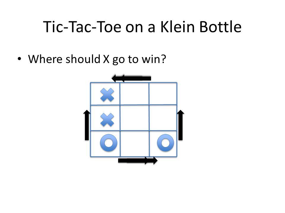 Tic-Tac-Toe on a Klein Bottle