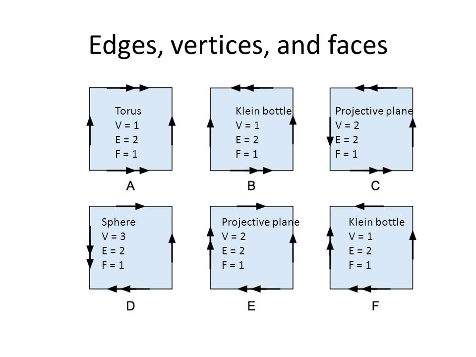 Edges, vertices, and faces