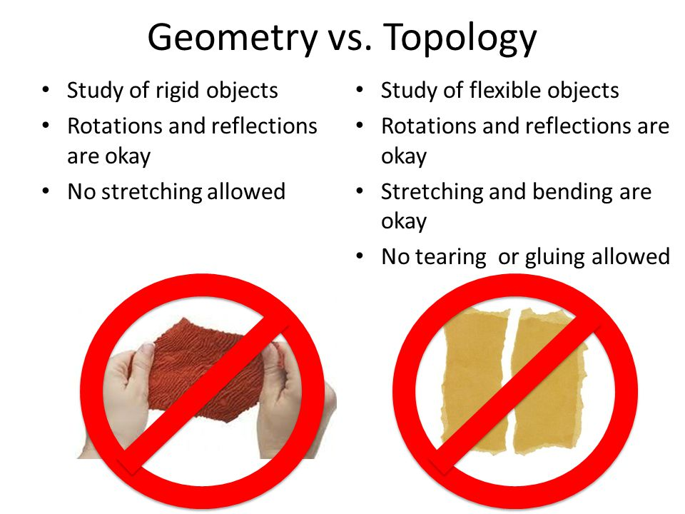 Geometry vs. Topology Study of rigid objects