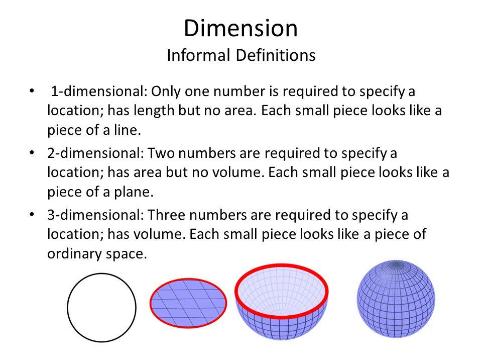 Dimension Informal Definitions