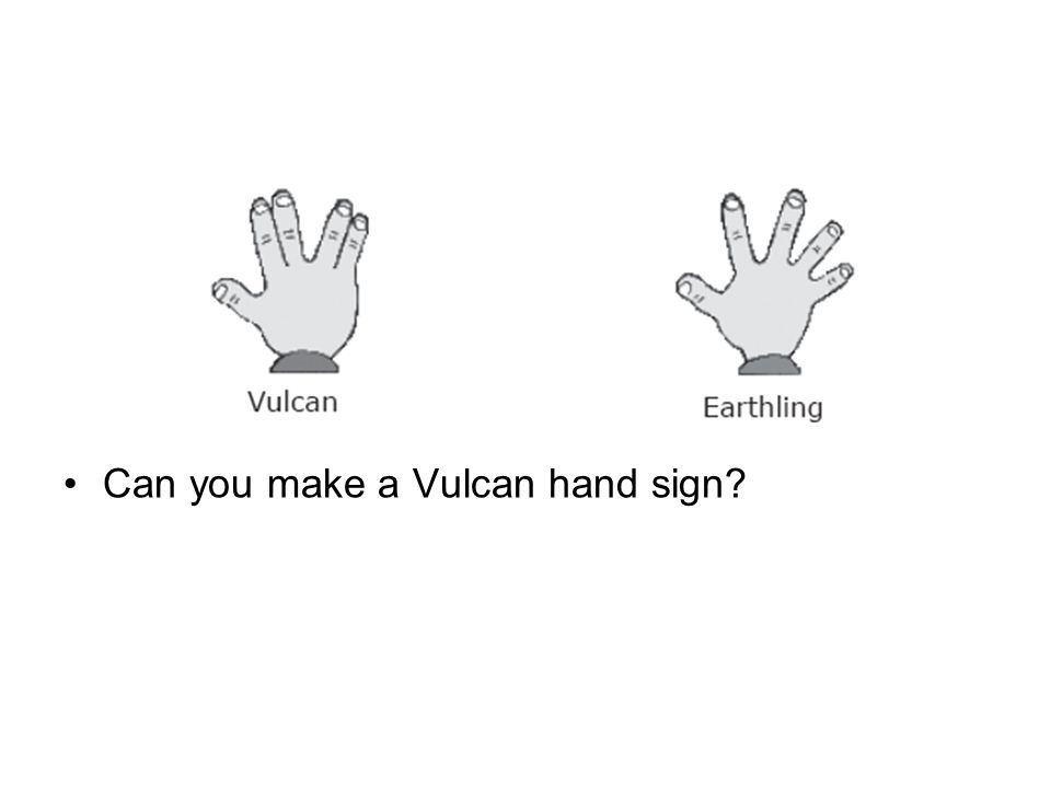 Can you make a Vulcan hand sign