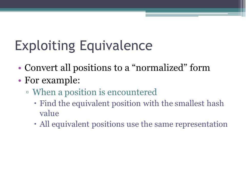 Exploiting Equivalence