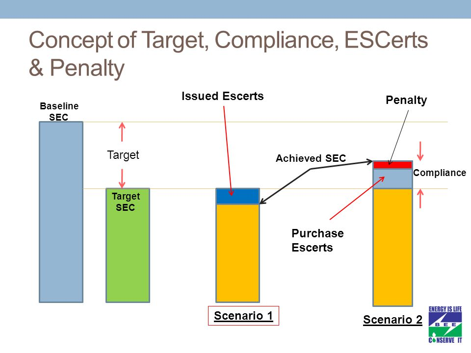 Concept of Target, Compliance, ESCerts & Penalty