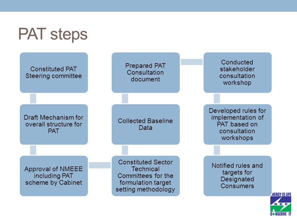 PAT steps Constituted PAT Steering committee