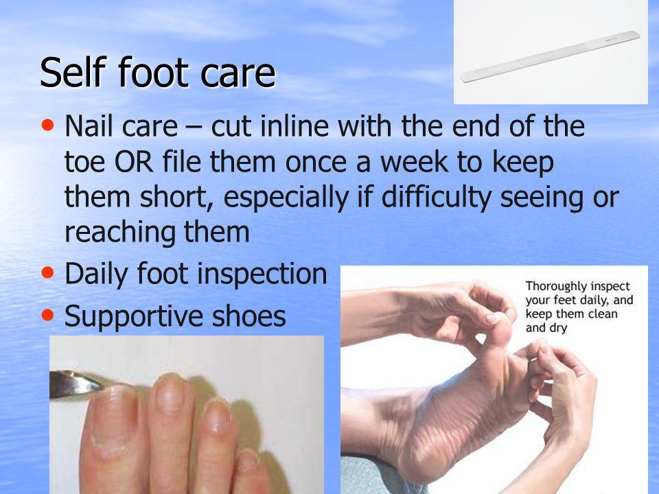 Self foot care