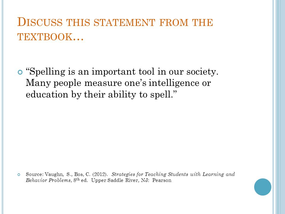 Discuss this statement from the textbook…