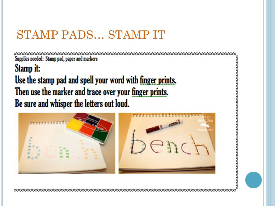 STAMP PADS… STAMP IT