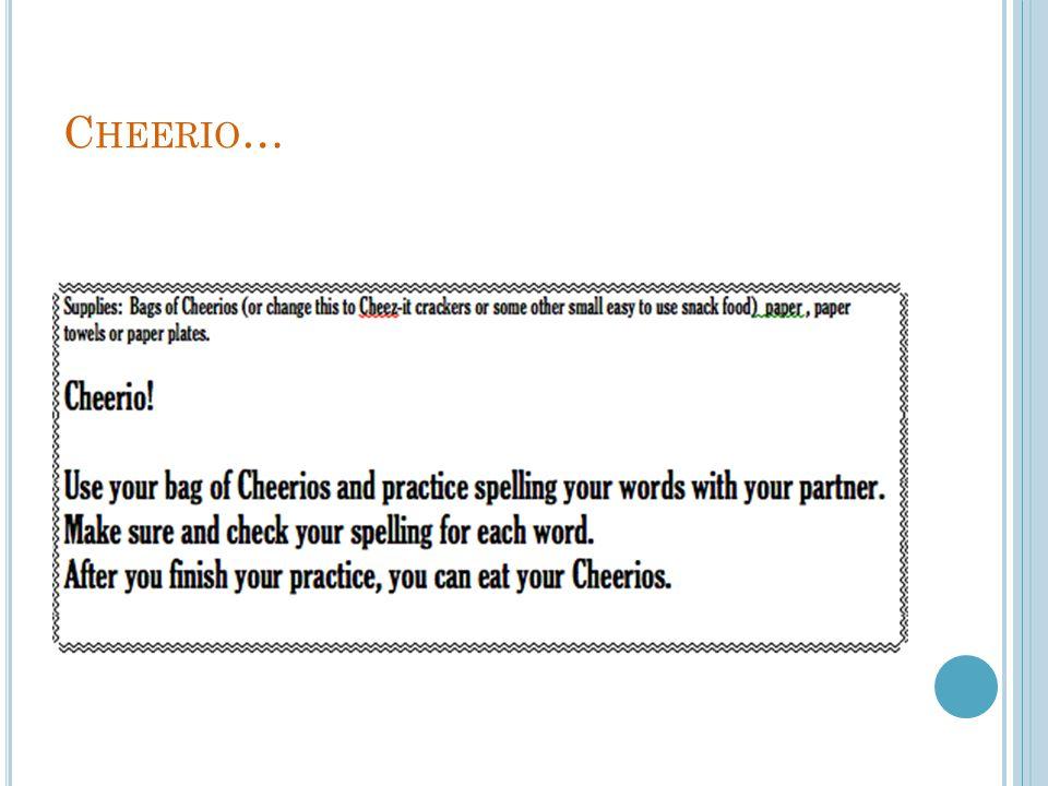 Cheerio…