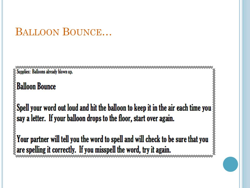 Balloon Bounce…
