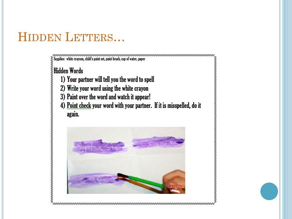 Hidden Letters…