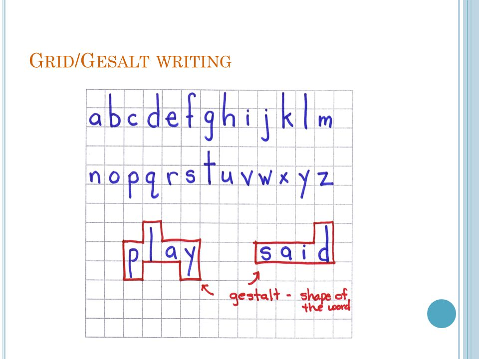 Grid/Gesalt writing