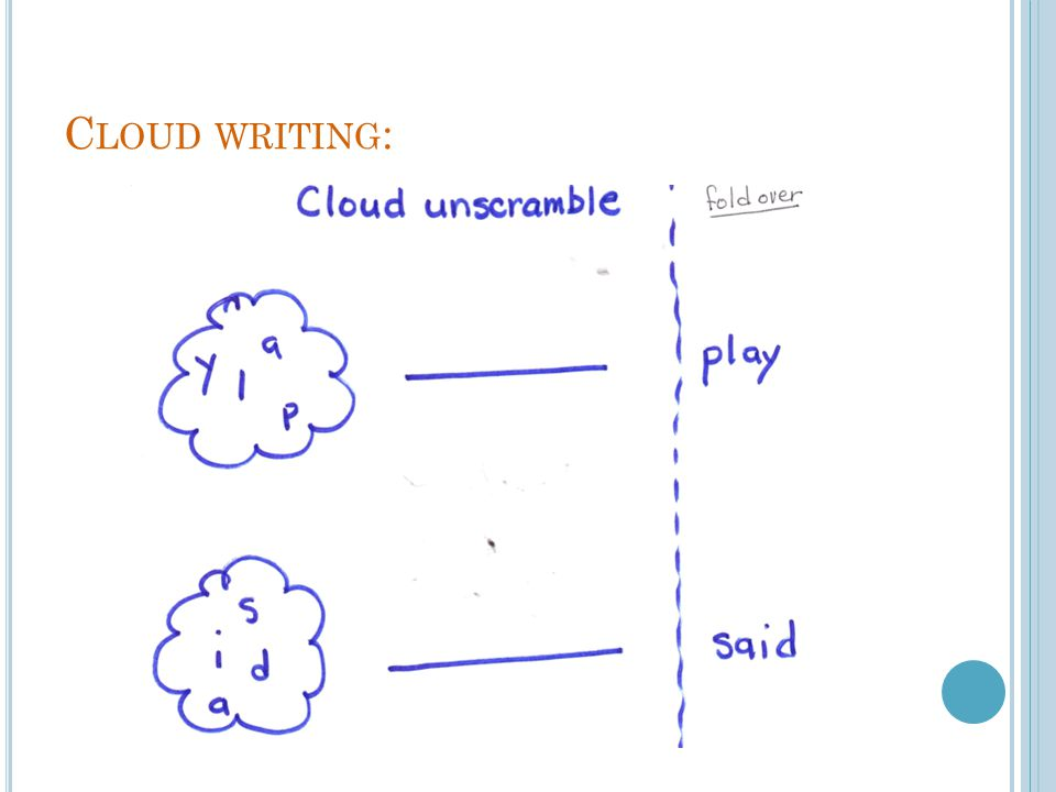 Cloud writing: