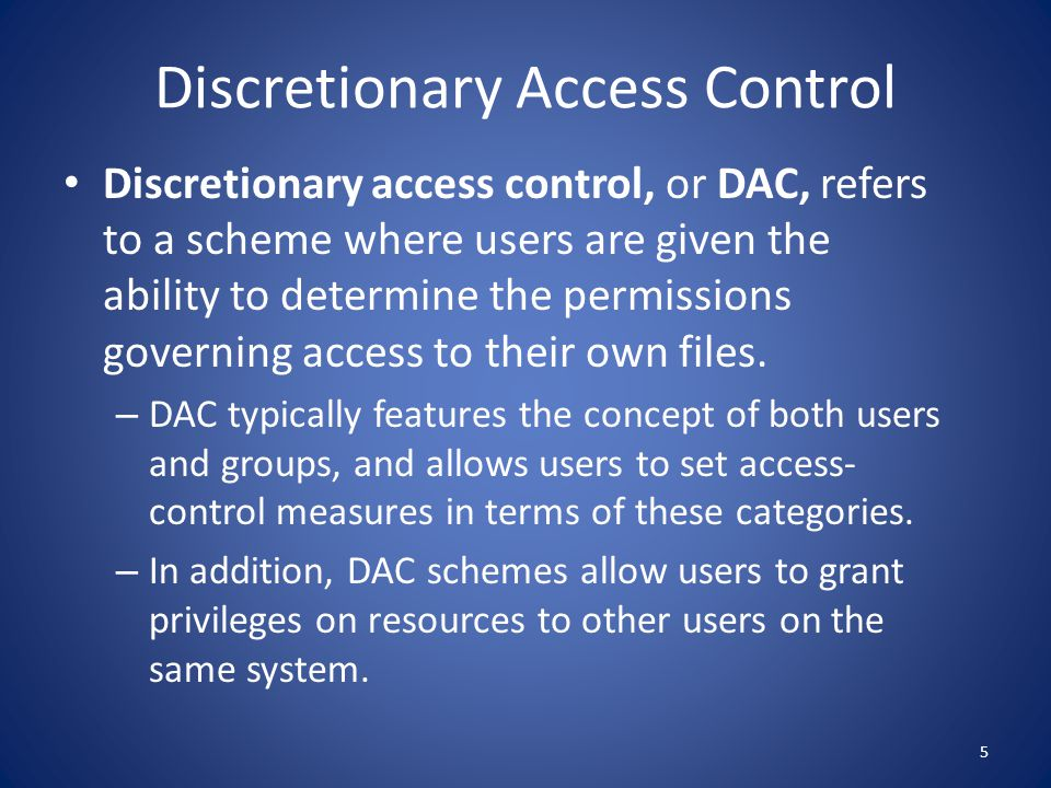 Discretionary Access Control