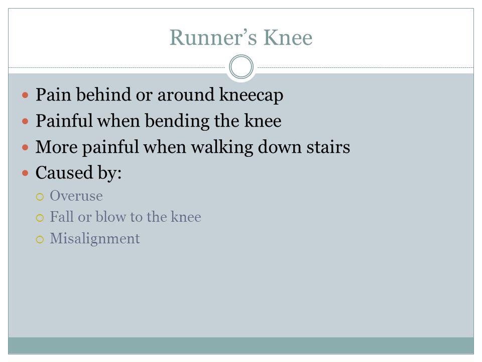 Runner's Knee Pain behind or around kneecap