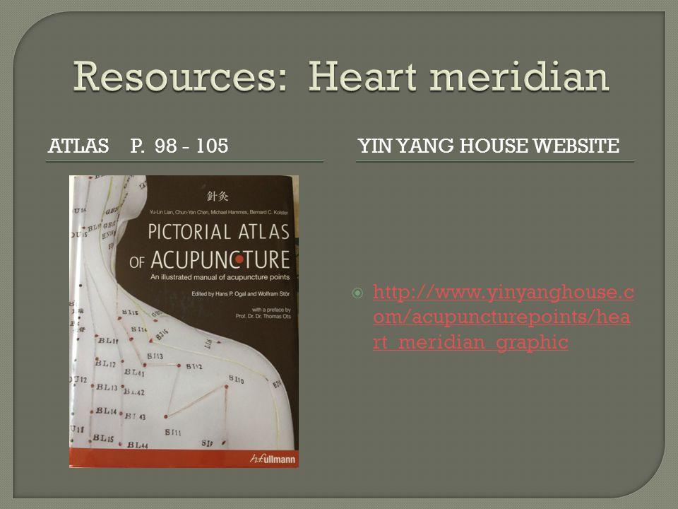 Resources: Heart meridian