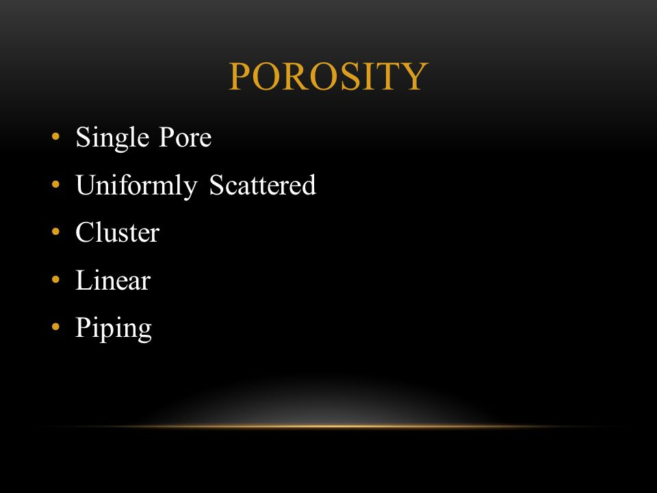 Porosity Single Pore Uniformly Scattered Cluster Linear Piping