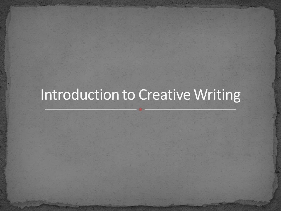 an introduction to the analysis of creative writing