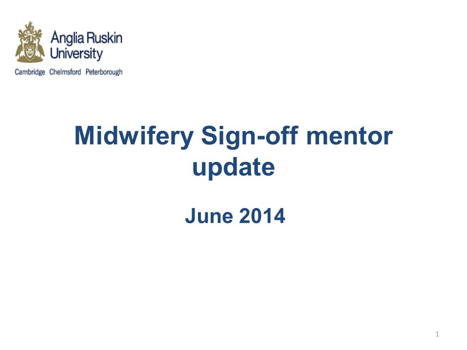 Midwifery Sign-off mentor update