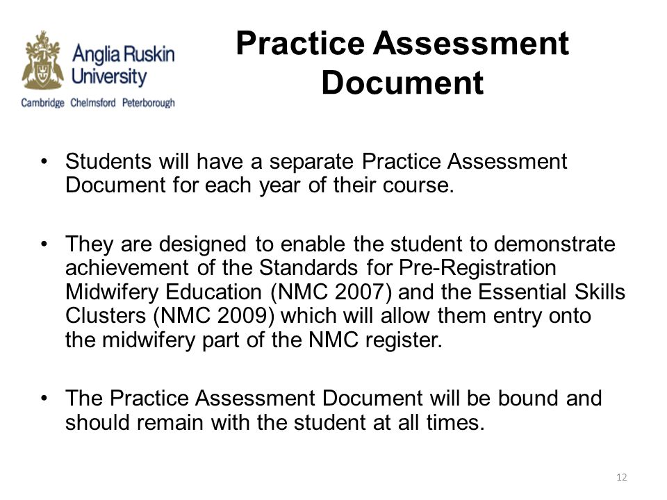 Practice Assessment Document