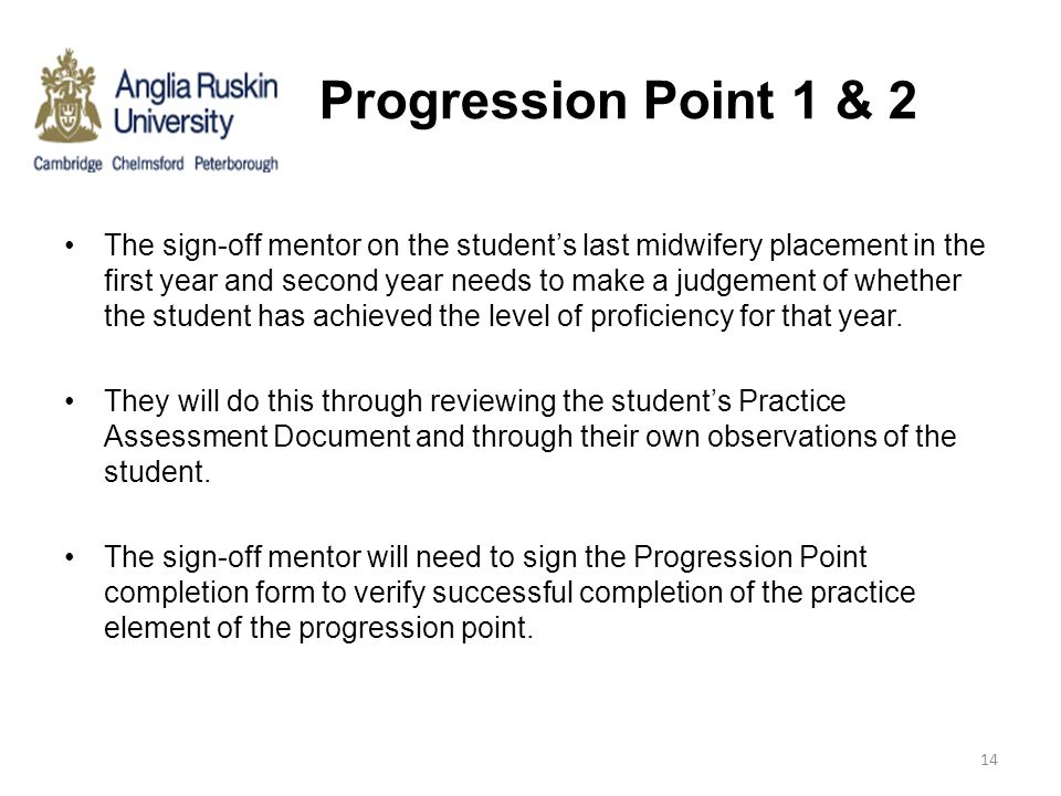 Progression Point 1 & 2