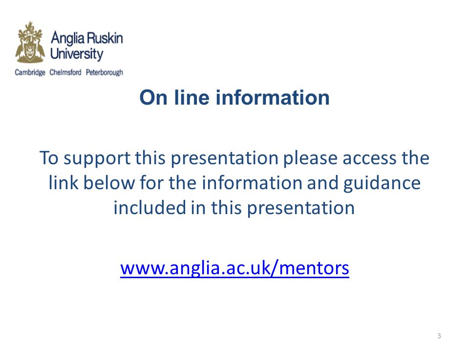 On line information To support this presentation please access the link below for the information and guidance included in this presentation.