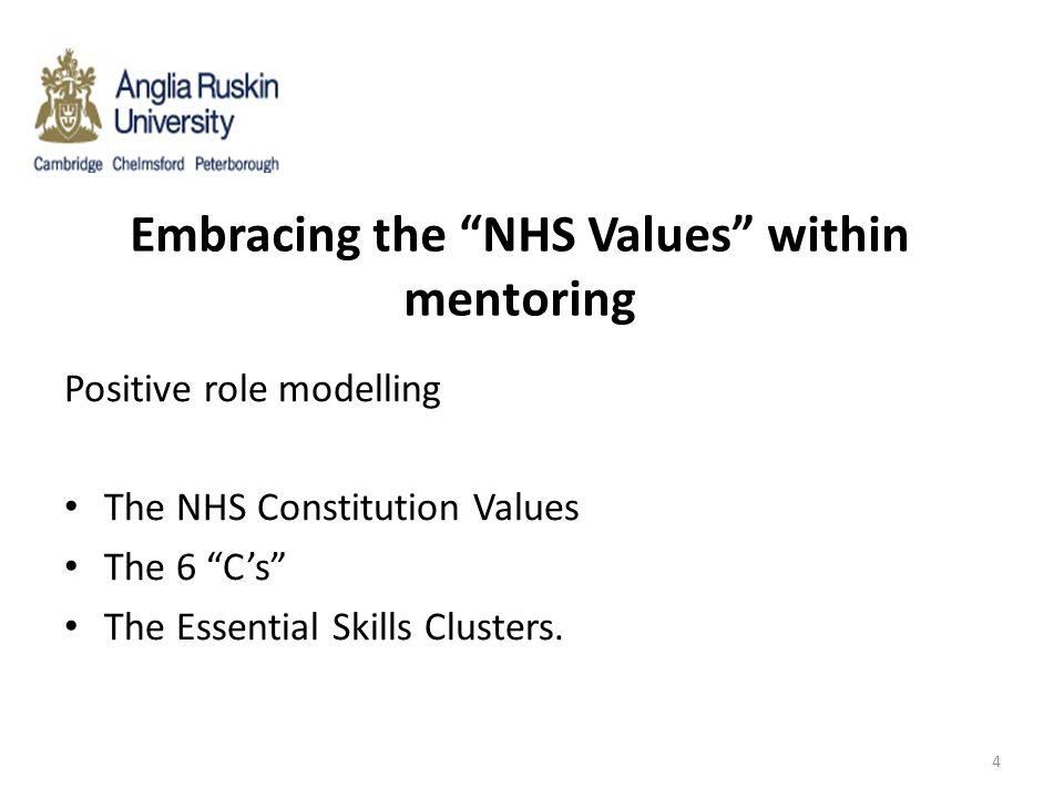 Embracing the NHS Values within mentoring