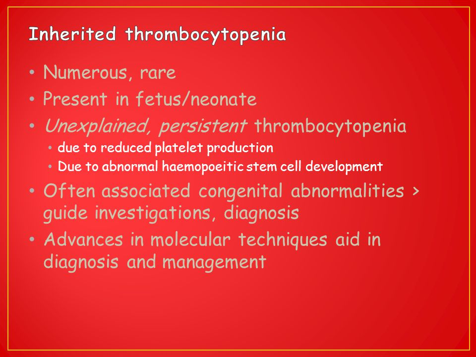 Inherited thrombocytopenia