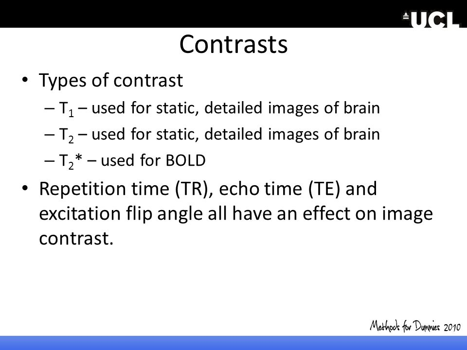 Contrasts Types of contrast