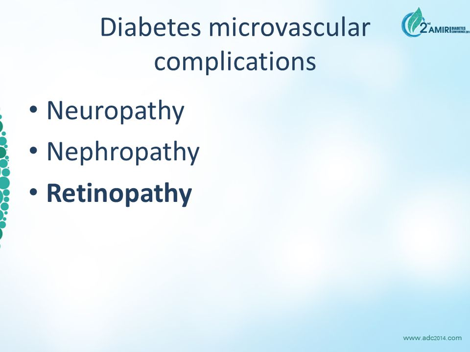 Diabetes microvascular complications